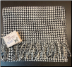 Scarf 100% alpaca woven houndstooth pattern