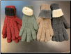 Gloves 100% baby alpaca reversible hand knit (EA)